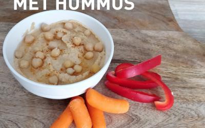 Snackgroentes met hummus