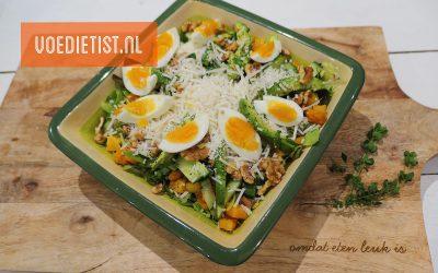 Recept: Herfstsalade met pompoen en geitenkaas