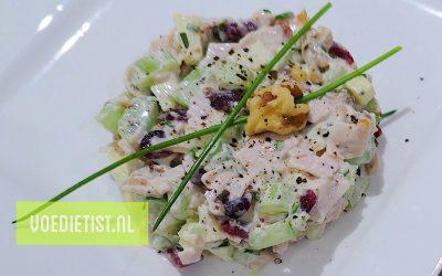 Recept: Waldorfsalade met kip