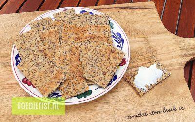 Recept: Koolhydraatarme crackers