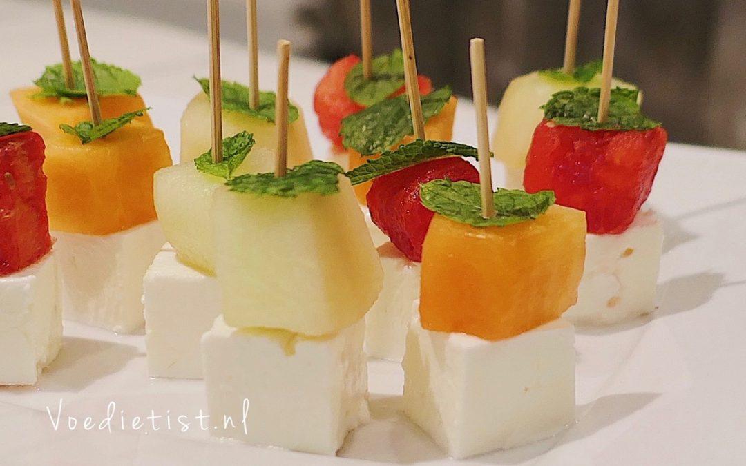 Recept: Feta-meloen (borrel)hapje