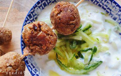 Recept: Vegetarische balletjes met tzatziki