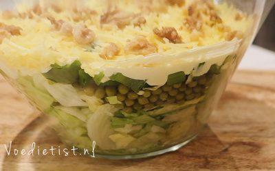 Recept: Vegetarische 7-laagjes salade