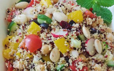 Recept: Zomers quinoa salade (veganistisch en glutenvrij)