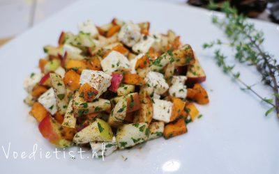 Recept: Herfstige wortelsalade met appel, feta en noten